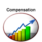 Department of Compensation logo shows the growth in a graph