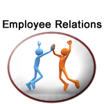 Department of Employee Relations logo as two people having good time