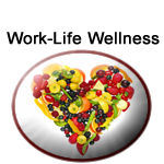 Department of WorkLife Wellness logo represents with a heart full of fruits
